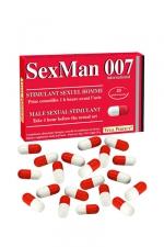Aphrodisiaque SexMan 007 (20 gélules) - 20 Gélules aphrodisiaques pour hommes, pour booster la virilité et les performances sexuelles.