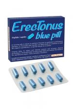Erectonus Blue Pills (10 gélules) - Un complément alimentaire exclusivement pour hommes permettant de booster les performances sexuelles et la libido.