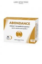 Abondance - Amélioration du sperme (30 comprimés) - Ce complément alimentaire aphrodisiaque masculin augmente le volume de sperme et améliore sa qualité. Cure de 15 à 20 jours.
