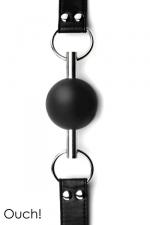 Solid Ball Gag - Black - Bâillon boule noir de grande qualité et original avec sa balle en caoutchouc traversée par une tige en métal.