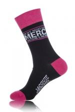 Chaussettes On dit merci qui? - noir - Paire de chaussettes pour hommes  On dit merci qui? , par Jacquie et Michel, coloris noir.
