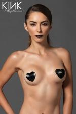 Caches tétons Satin Heart Niple - Caches tétons en satin capitonné, ils donnent à votre poitrine un style incomparable.