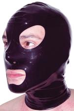 Cagoule latex - Cagoule latex haute qualité, ouvertures pour les yeux et la bouche et orifices de respiration aux narines.