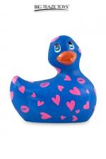 Mini canard vibrant Romance bleu et rose - Déclinaison bleu et rose du célèbre canard vibrant dans la collection Romance.  I Rub My Duckie est désormais en version 2.0.