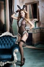 Déguisement coquin Bunny girl - Transformez vous en hôtesse coquine du célèbre magazine Playboy avec ce déguisement sexy de femme-lapin.