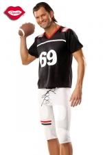 Costume Footballeur Américain 69 - Vous serez trop sexy dans ce costume moulant de footballeur américain, qui porte le numéro de votre position préférée : 69 !