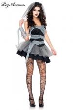Costume Mariée mort-vivante - Soirée costumée pour Halloween ? Restez sexy avec ce costume de Mariée mort-vivante.