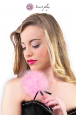 Plumeau 18 cm rose - Secret Play - Petit plumeau coquin pour affoler ses sens avec de douces caresses par Secret Play.