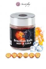 6 Brazillian balls effet chaud & froid - La chaleur du corps transforme la brazilian ball en liquide apportant chaleur puis frisson, votre imagination s'en trouve exacerbée.