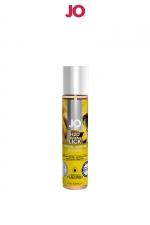Lubrifiant aromatisé banane 30 ml - Lubrifiant aromatisé comestible parfum banane au format 30 ml de la marque Américaine System Jo.