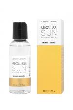 Mixgliss silicone - Monoï - 50ml - Fluide 2 en 1 massage et lubrifiant riche en silicone, parfumé au monoï.