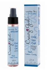 Gel Sexe Oral Crazy Girl - Cotton Candy - Gel intime pour rapport oral (fellation ou cunnilingus) parfum barbe à papa, pour le plus grand plaisir des deux partenaires.