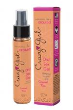 Crazy Girl Oral Sex Gel - Caramel Kiss - Gel intime pour rapport oral (fellation ou cunnilingus) parfum Caramel Kiss, pour le plus grand plaisir des deux partenaires.