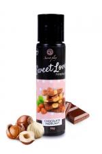Lubrifiant comestible chocolat-noisette - 60ml - Lubrifiant 100% comestible de la série Sweet Love, au parfum chocolat-noisette signé de la marque Espagnole Secret Play.