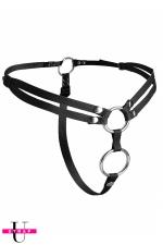 Harnais double pénétration Unity - Harnais gode-ceinture ajustable spécial double pénétration, Vegan friendly, par XR Brands.