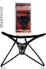 Gode ceinture Double Strap - Grâce à ses 2 sangles de cuisses , le port de ce gode ceinture en cuir laisse votre intimité accessible.