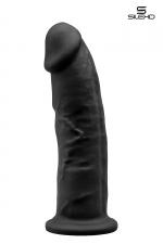 Gode double densité noir 23 cm - Modèle 2 - Gode réaliste noir de 22,5 cm et 5 cm de diamètre à double densité et mémoire de forme utilisant du silexpan pour des sensation plus réelles.