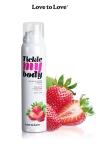 Mousse massage crépitante - fraise