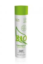 Huile de massage BIO aloe vera - HOT : Huile de massage BIO et Végan au parfum érotique et raffiné aloe vera, par HOT. Flacon de 100 ml.