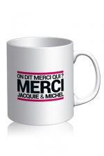 Mug Jacquie et Michel - blanc - Voici le mug officiel du site Jacquie et Michel, modèle blanc.