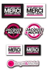 Assortiment 7 stickers J&M - Les 7 Stickers officiels Jacquie & Michel à coller où vous voulez.