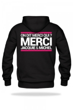 Sweat-shirt Capuche J&M noir - A la demande générale, voici le sweat à capuche J&M pour compléter votre tenue de fan (modèle noir).