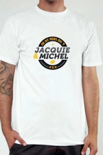 T-shirt J&M n°2 (taille XL 2XL 3XL) - Le Tee-shirt exclusif (visuel 2) à l'effigie de  Jacquie & Michel, votre site amateur préféré.
