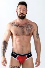 Jock Brief URBAN SoMa  Rouge - Un sous vêtement top confort pour homme mi-slip et mi-jockstrap pour mettre votre corps en valeur, par Mister B.