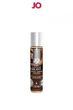 Lubrifiant aromatisé chocolat 30 ml : Lubrifiant aromatisé comestible parfum chocolat au format 30 ml de la marque Américaine System Jo.
