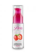 Lubrifiant parfumé fraise 50ml - Yoba : Lubrifiant intime à base d'eau délicieusement parfumé à la fraise. Présenté dans un flacon pratique. Fabriqué en France.