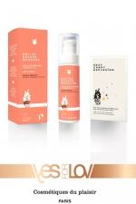 Delice deluxe massage Peche Abricot - 1 Huile de massage gourmande parfum pêche abricot + 1 sachet Sexy Candy Explosion, par Yes For Love.