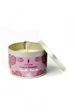 Bougie de massage Vanille-Noisette - Bougie de massage parfum Vanille-Noisette fabriquée en France pour des moments sensuels.