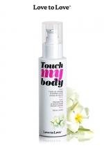 Fluide massage & lubrifiant  - monoï - A la fois un fluide de massage et un lubrifiant intime parfumé au moinoï, par Love to Love.