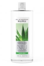 Gel massage Nuru Aloe Vera Mixgliss - 1 litre - Gel de massage NÜ par Mixgliss pour redécouvrir le plaisir du massage Nuru. Formule enrichie en Aloe, flacon de 1 Litre.