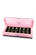 Coffret 6 huiles de massage sèches - Plaisir Secret - Coffret cadeau Prestige avec 6 huiles de massages sèches Plaisir Secret aux parfums différents, le tout dans une luxueuse boite.
