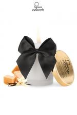 Bougie de massage Caramel - Superbe bougie se transformant en huile tiède au doux parfum Caramel par Bijoux Indiscrets.