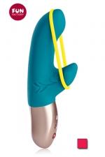 Mini vibro Deluxe Amorino - Amorino, le nouveau Vibromasseur DeluxeVIBE Mini avec bande stimulante amovible pour la stimulation externe.