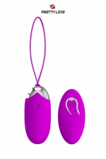 Oeuf vibrant Pretty Love Berger - Oeuf vibrant en silicone avec télécommande sans fil, 12 modes de vibrations, par la marque Pretty Love.