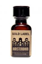Poppers Amsterdam Gold Label 24 ml  - La nouvelle référence de poppers de La marque Amsterdam,  à base de Nitrite d'Amyl.