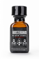 Poppers Amsterdam Black  label 24ml : Le poppers Amsterdam dans une nouvelle formule encore plus forte (à l'Isoamyl Nitrite), Black Label oblige!