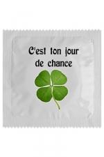 Préservatif humour - Jour De Chance - Préservatif  Jour De Chance , un préservatif personnalisé humoristique de qualité, fabriqué en France, marque Callvin.