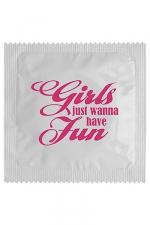 Préservatif humour - Girls Wanna Have Fun - Préservatif  Girls Wanna Have Fun , un préservatif personnalisé humoristique de qualité, fabriqué en France, marque Callvin.