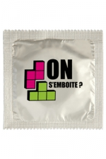 Préservatif humour - On S'emboite - Préservatif  On S'emboite , un préservatif personnalisé humoristique de qualité, fabriqué en France, marque Callvin.