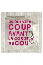 Préservatif humour - Un Dernier Coup - Préservatif  Un Dernier Coup , un préservatif personnalisé humoristique de qualité, fabriqué en France, marque Callvin.