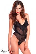 Body Amazing Ruffle - Body sensuel d'intérieur, aux légers drapés affolants.
